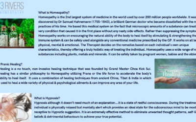 What is Homeopathy, Pranic Healing and Hypnosis?
